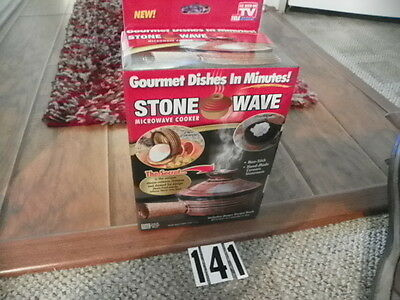 "Set Of 2 Stone Wave Microwave Cooker "" As Seen On Tv""  Gourmet Dishes In Minutes"