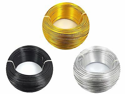 2M or 5M x 2mm Aluminum WIRE for Florist Floral, DIY, Jewellery Making, Craft...