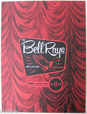 THE BELLRAYS - Original  2006 Concert Poster by Thomas Scott - CD Release