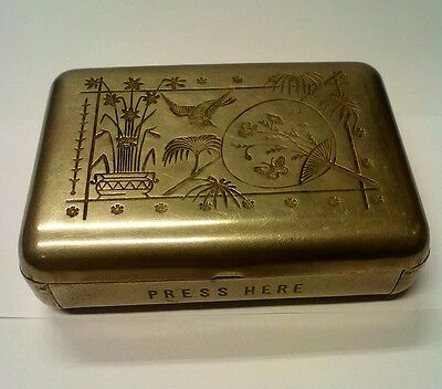 Antique Jahncke's Patent Metal Dressmaking Pin Box/Tin (1880s) rare design