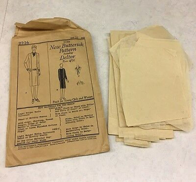 Antique Sewing Pattern 1920's New Butterick Pattern Design 2226