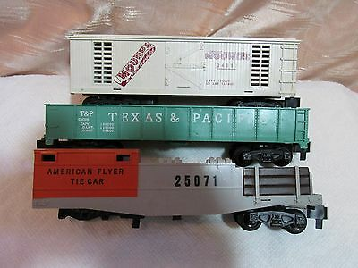Vintage American Flyer Train Cars, Lot of 3