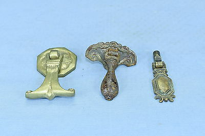Antique MIXED LOT of 3 EASTLAKE SINGLE POST PULLS DRAWER HARDWARE OLD  LOT #131A