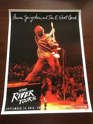Bruce Springsteen Limited Edition Gillette Stadium River Tour Poster