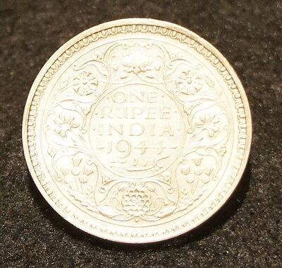 1944B India Rupee UNC Condition 50% SILVER Excellent Old Collectible Coin!