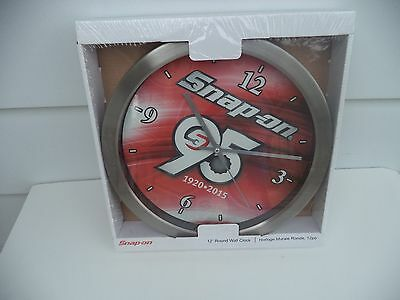 "SNAP-ON TOOLS 95th ANNIVERSARY 12""  WALL CLOCK - NEW IN BOX"