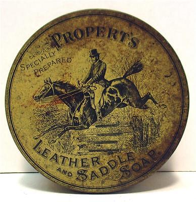 Propert's Leather and Saddle Soap Advertising Tin