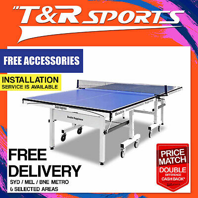 30Mm Tournament Double Happiness Table Tennis Table With Free Gift Pack