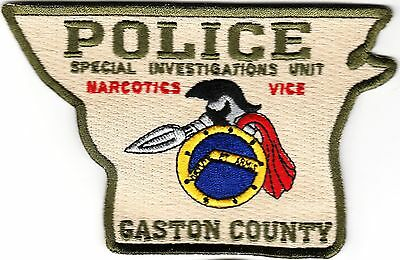 Gaston County Police Special Investigation Unit Narcotics Vice NC patch NEW!!