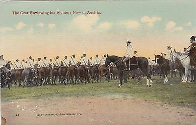 Austria The Czar Reviewing His Troops Horse Mounted Cavalry sk3171