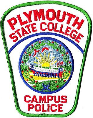 Plymouth State College Campus Police New Hampshire NH patch NEW!!