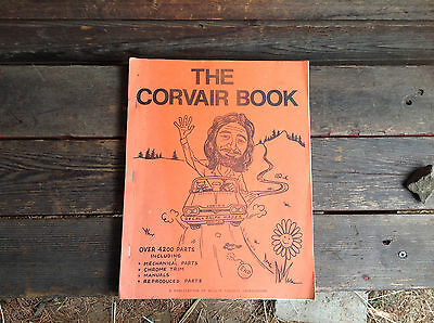 Vintage 1987 The Corvair Book - Wall's Corvair Underground - Orange Cover