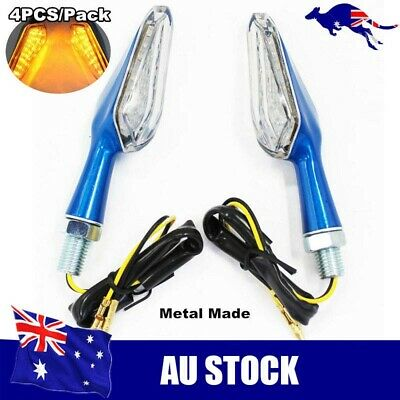 4x Universal Motorcycle LED Turn Signal Indicator Light Suit Honda Suzuki Yamaha