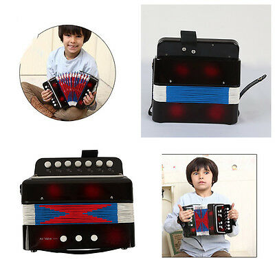 Black Kids Instrument Music Accordion Button Toy Great Christmas Gift Children