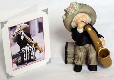 NIB Enesco Pretty as a Picture Girl With Saxophone 2000