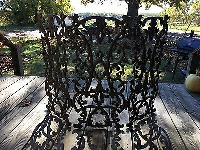 Vintage Wrought Iron Fireplace Screen Ornate.