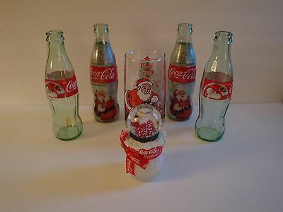 Coca-Cola Holiday Bottles, Glass And Candle Snowglobe