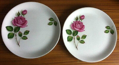Rose side plates x 2