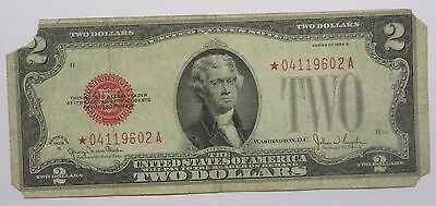 1928-G $2 US Note Red Seal - STAR Note