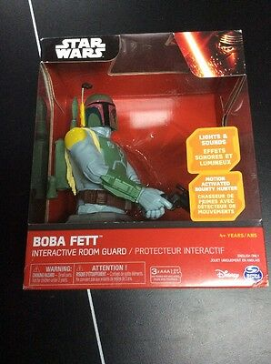 New Boba Fett Interactive Star Wars The Force Awakens Room Guard Motion Activate