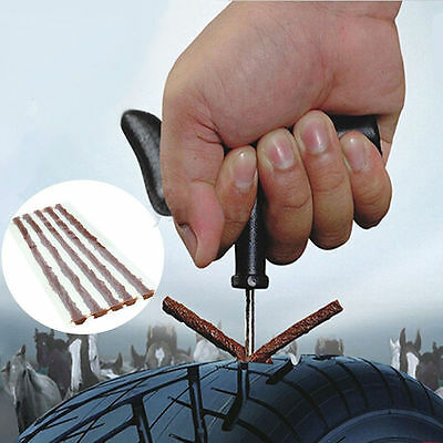 Pro Repair Car Tyre Puncture Strips Motorcycle Tire Bike Tubeless Seal Rubber
