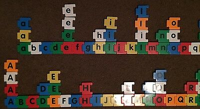 90 Plastic Interlocking Alphabet Letters Uppercase And Lowercase Magnets