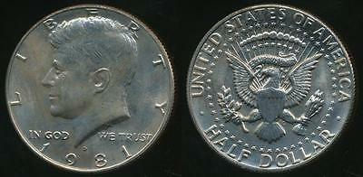 United States, 1981-D Half Dollar, Kennedy - Uncirculated