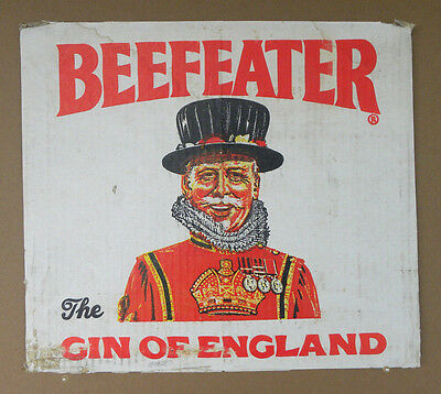 Vintage Beefeater Gin Cardboard Box Cut Out  Advertising Art  London England