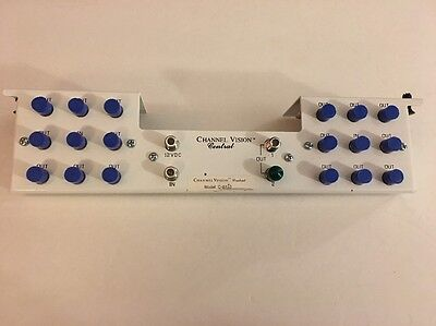 Channel Vision C-0332 Amplified Splitter, 1-In 16-Out 1x16