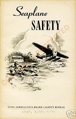 Seaplane Safety Poster Of Cover From 1946 CAB Bulletin