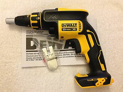 New Dewalt DCF620B 20V 20 Volt Max XR Brushless Drywall Screw Drill Cordless