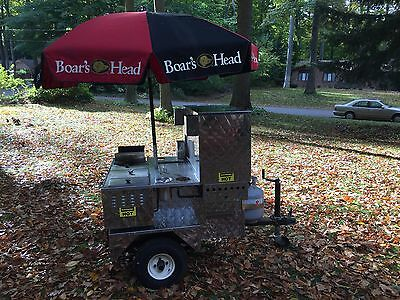 Hot Dog Cart concession trailer 525 by Custom Mobile Food Equipment