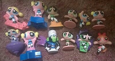 Powerpuff Girls Action Figure Cake Toppers Toys 12 Set Lot