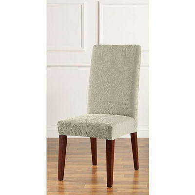 Sure Fit Surefit Stretch Pique Short Dining Room Chair Slipcover Chocolate