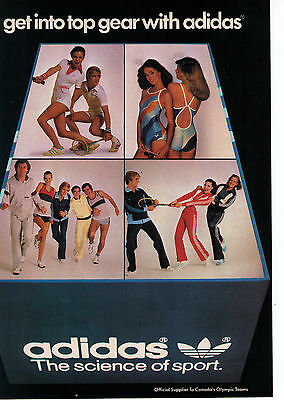 """1980's Adidas """"Get In Top Gear"""" Collection Vintage Print Advertisement"""