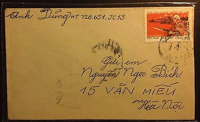 North Vietnam: Postly Used Cover. Military Frank -08