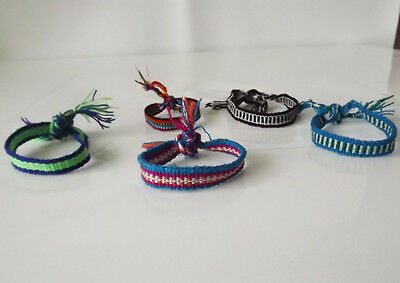 50  Wool Woven Thin  Friendship Bracelets.