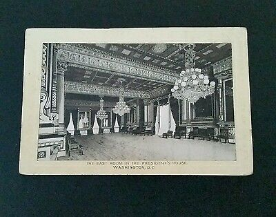 Antique Victorian Trade Card Jersey Coffee THE EAST ROOM PRESIDENTS HOUSE DC