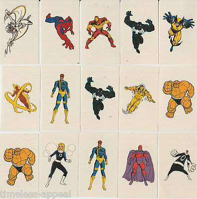 1996 Fleer / Skybox Marvel Characters Temporary Tattoos Stickers x15