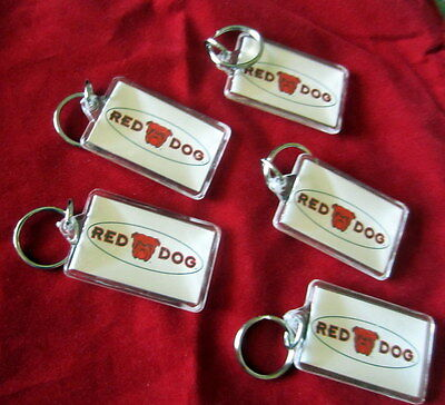 5 Red Dog Key Chains