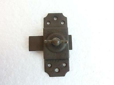 Antique CABINET LATCH with BRASS KNOB - no KEEPER