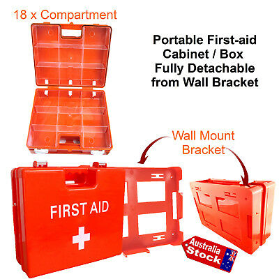Abs Plastic First Aid Cabinet Box Detachable From Fixed Wall Bracket
