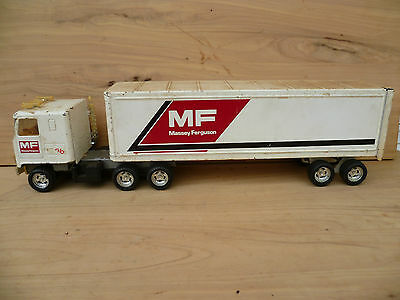 Vintage Old Massey Ferguson Tractor Advertising Truck, Old Tin Toy