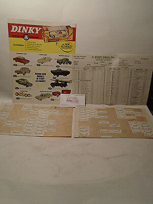 1960's Dinky Dealer Catalog In Mint Condition With Price List & Display Stickers