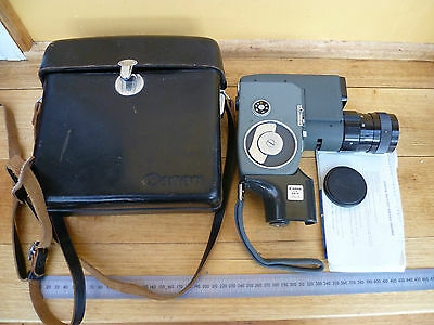 Vintage Old Cannon Japanese Made Movie Camera In Case