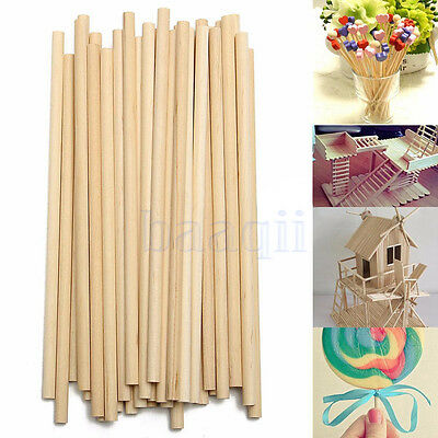 100pcs 150mm Round Wooden Lollipop Lolly Sticks Cake Dowel For DIY Food Craft MA