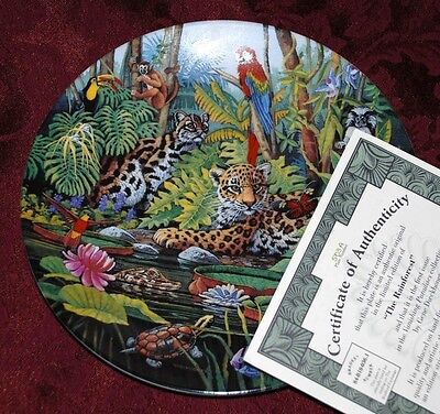 Jungle Leopard - The Rainforest - BRADFORD EXCHANGE Collector PLATE P15 yy