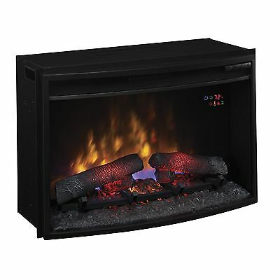 Fire Place Indoor Classic Flame 25-inch Curved Safer Plug Decorative Accessorie