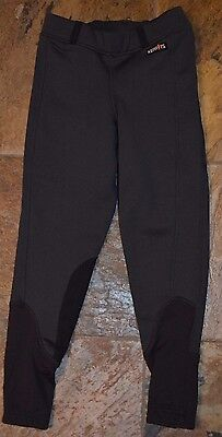 Youth KERRITS Riding Breeches Pants Fleece Lined Charcoal Gray Size Small