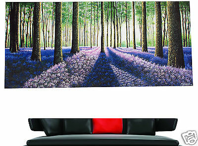 aussie ART PAINTING ABSTRACT landscape  forest TREES LARGE SIZE 180cm x90cm